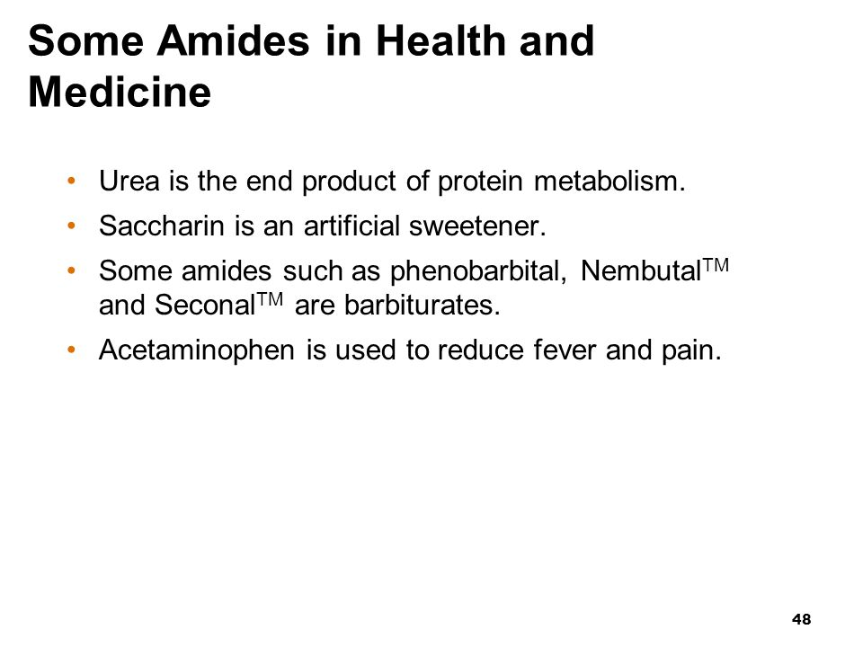 Some Amides in Health and Medicine
