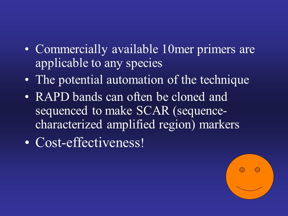 Commercially available 10mer primers are applicable to any species