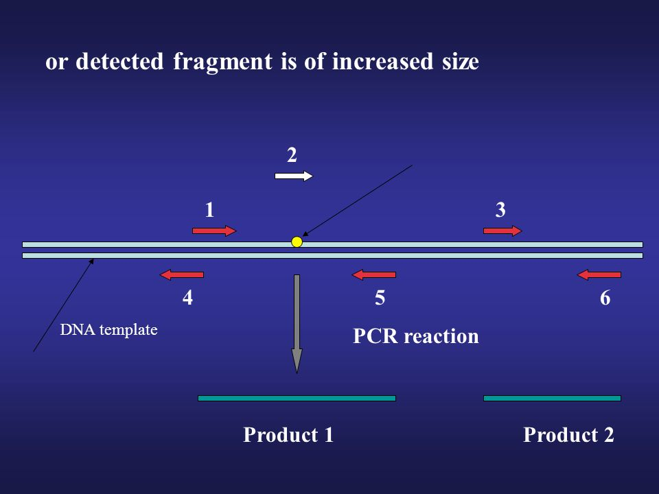 or detected fragment is of increased size
