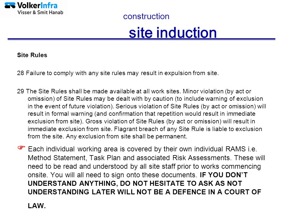 Construction site induction ppt download for How to read construction site plans