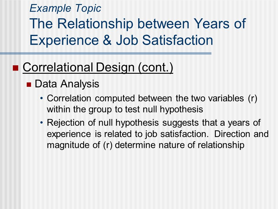 Correlational Design (cont.)