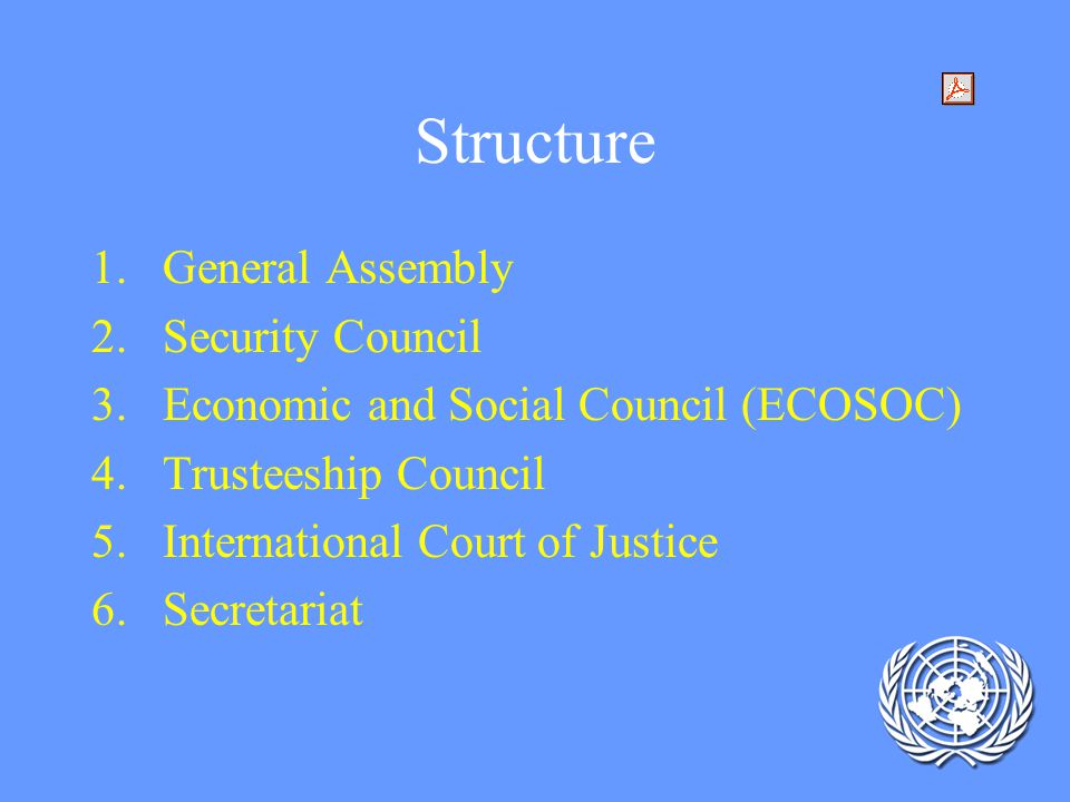 Structure General Assembly Security Council