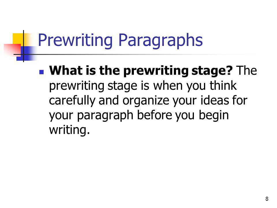 Prewriting Paragraphs