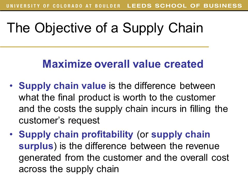 objectives of supply chain management pdf