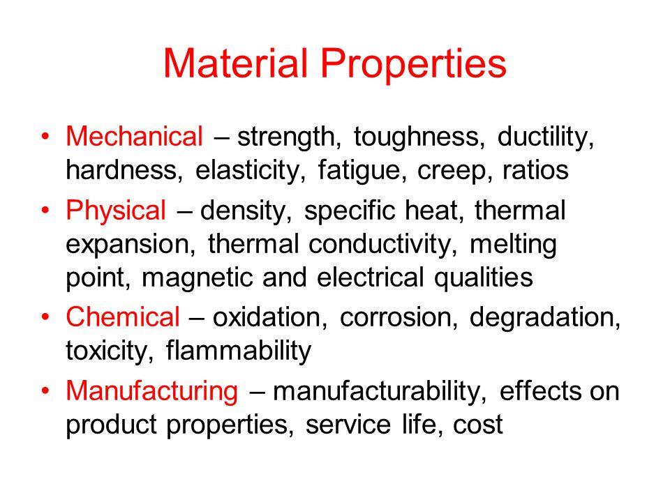 material properties essay