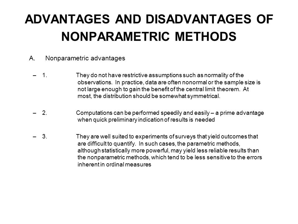 Nonparametric Methods - ppt download