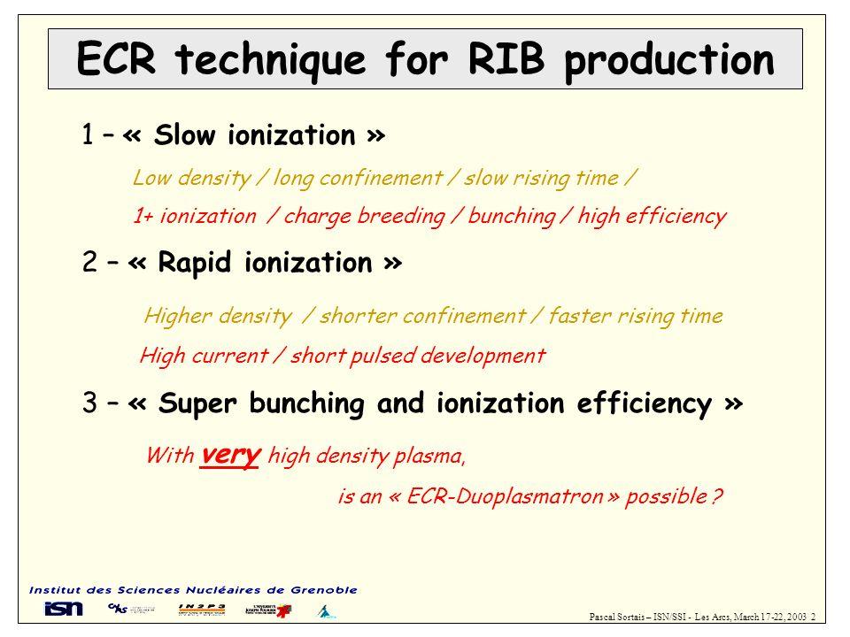 ECR technique for RIB production
