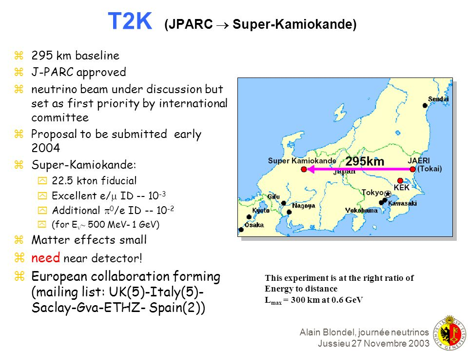 T2K (JPARC  Super-Kamiokande)