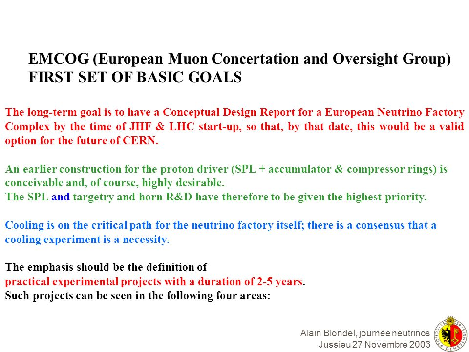 EMCOG (European Muon Concertation and Oversight Group)