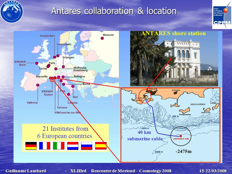 Antares collaboration & location