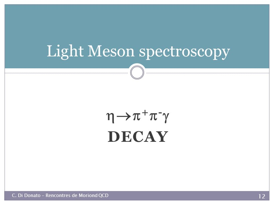 Light Meson spectroscopy
