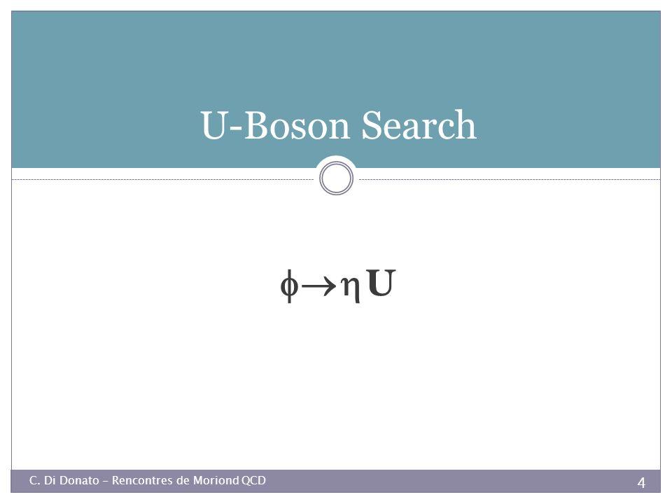U-Boson Search U C. Di Donato - Rencontres de Moriond QCD