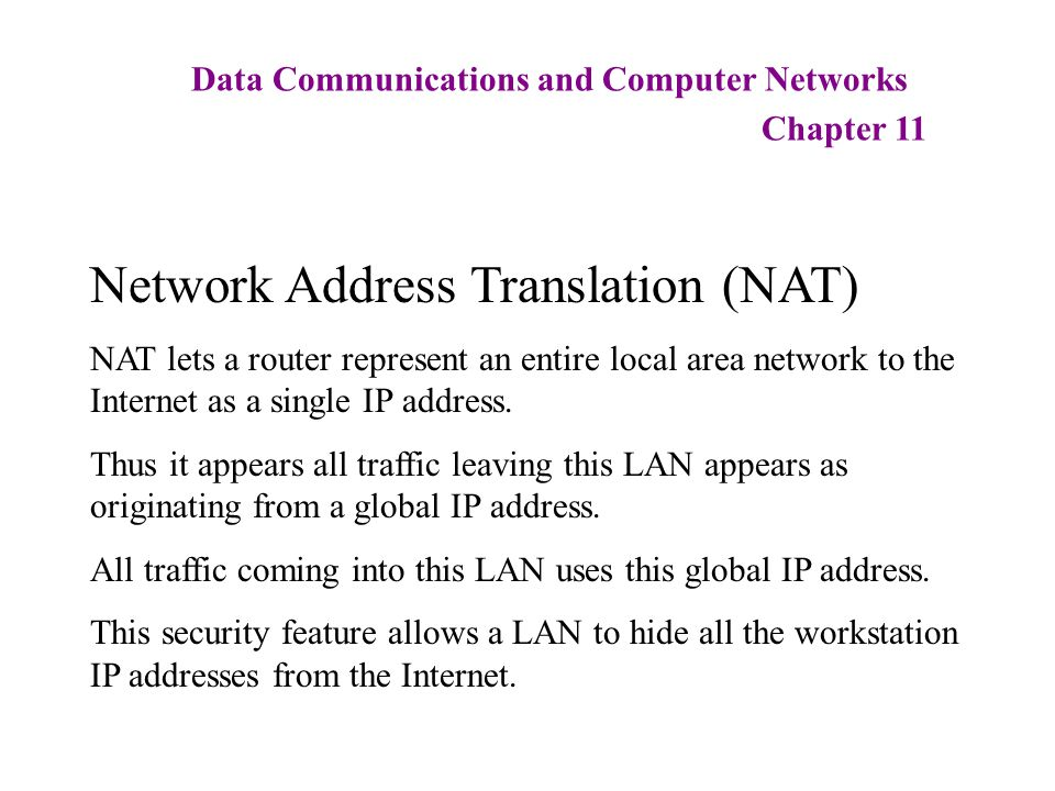 network address translation and router I have three computers connected to a router at home i am sure my router has only one address when the packet arrives from computer 1, the source ip is translated.