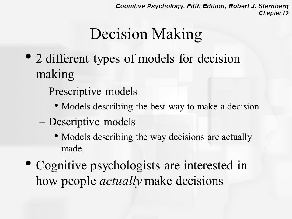 what different types of decision a Explain briefly various models of decision  these steps also will also help enhance your decision making skills for different types of  make the decision:.