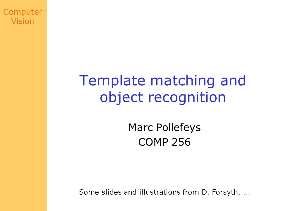 Template matching and object recognition - ppt video online download