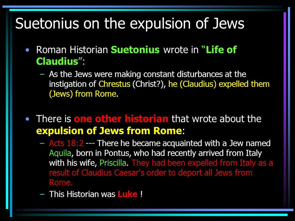 Suetonius on the expulsion of Jews