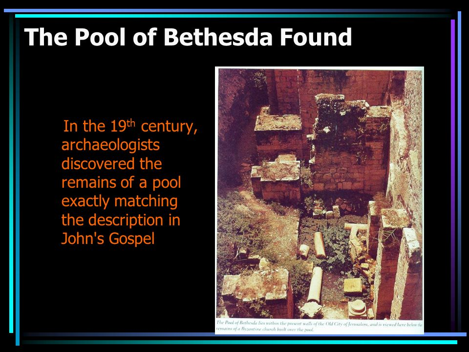The Pool of Bethesda Found