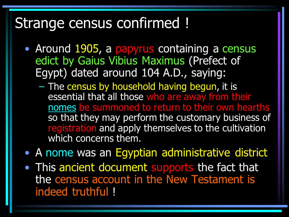 Strange census confirmed !