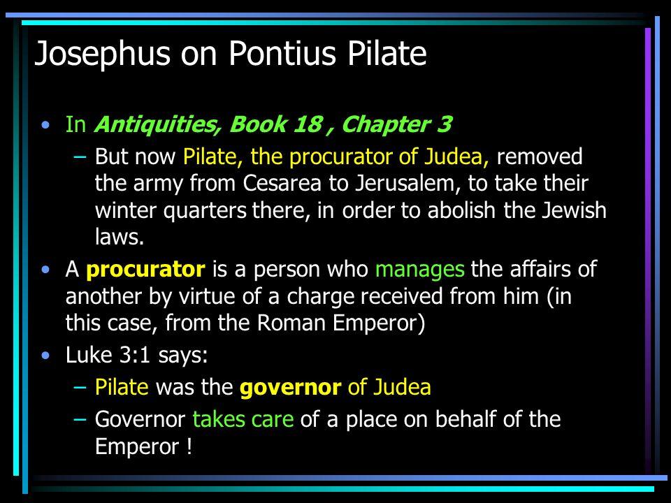 Josephus on Pontius Pilate