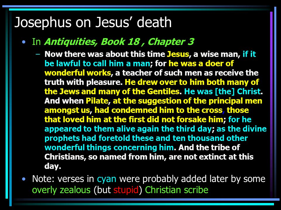 Josephus on Jesus' death