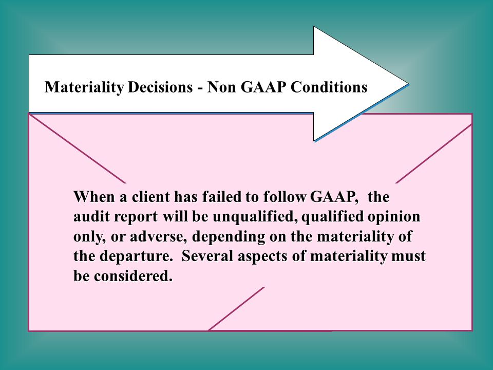 Materiality Decisions - Non GAAP Conditions