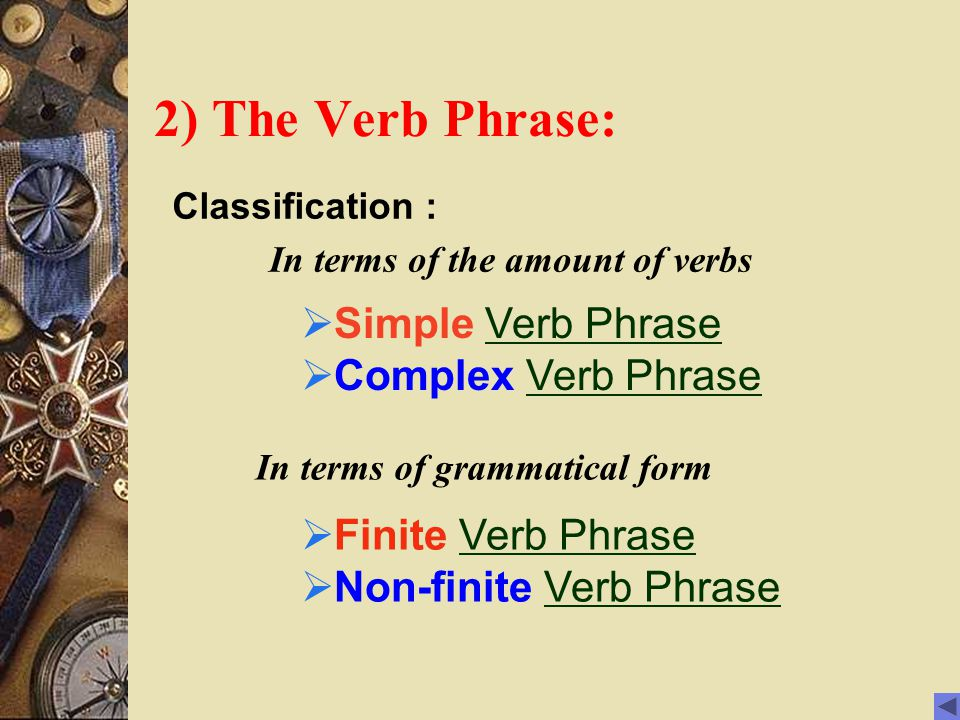 In terms of the amount of verbs