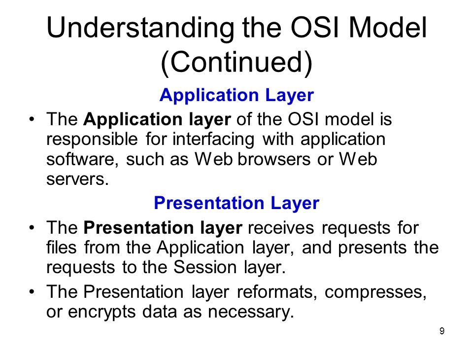 what is the osi application layer