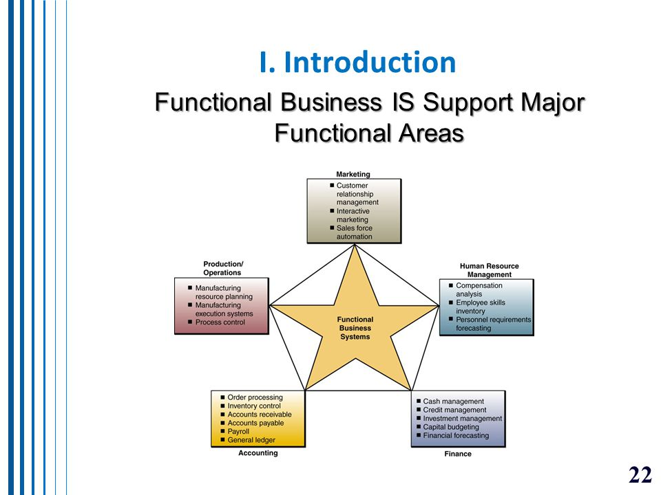 Functional Business IS Support Major Functional Areas