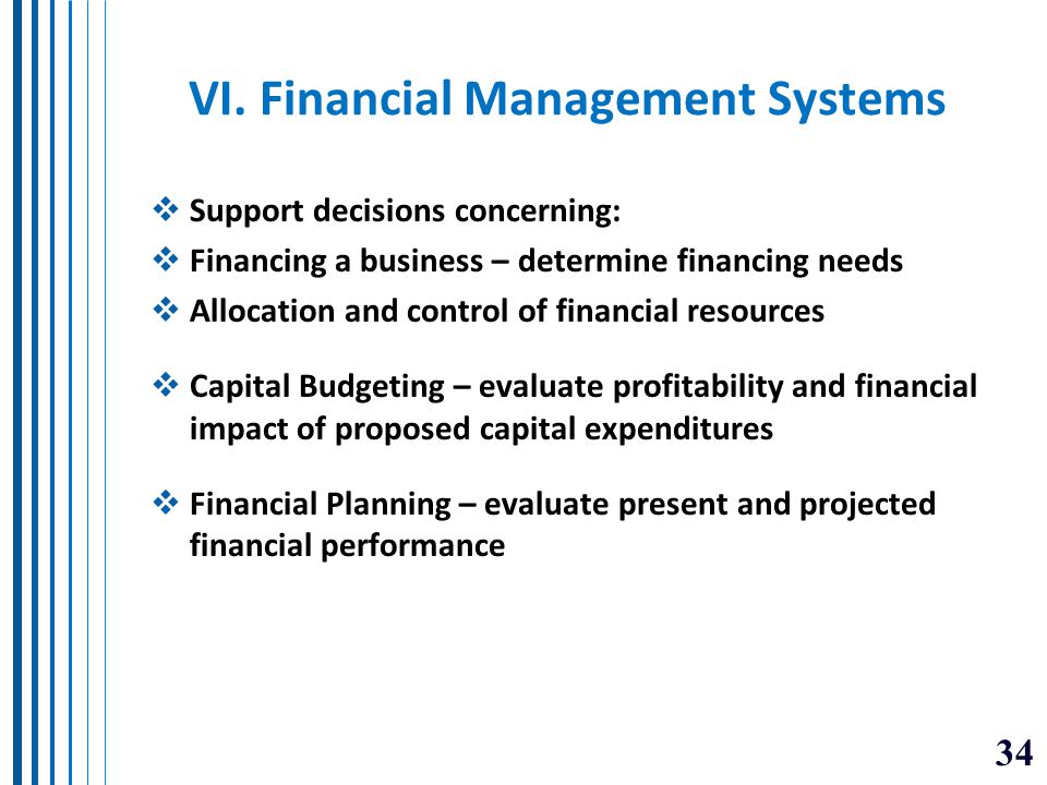 VI. Financial Management Systems