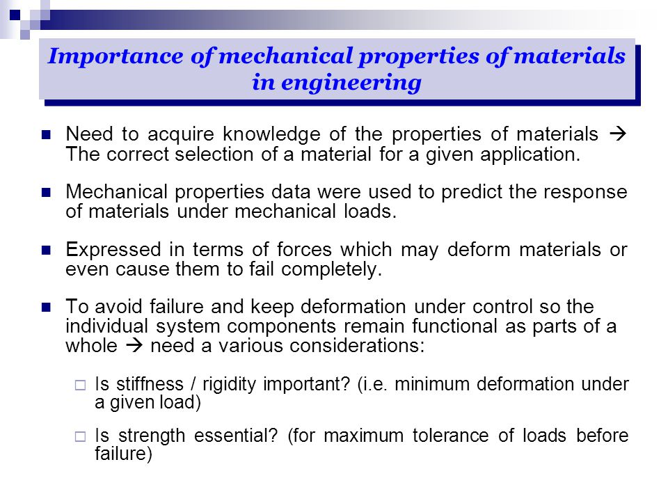 causes of material failure Failure analysis in material science environmental degradation is one of the most important service-related causes of failure for metals and plastics one major environmental factor is the oxidation of iron, commonly called rust.