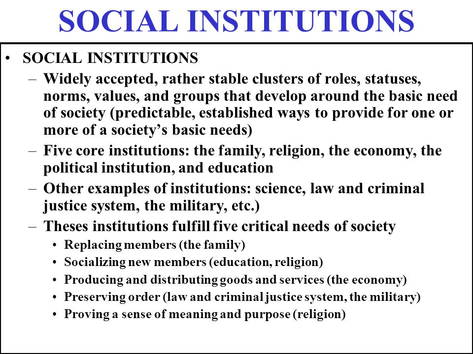 religion as a social institution pdf