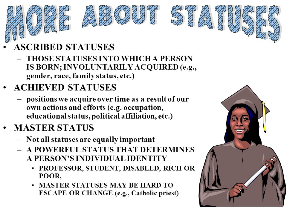 What Are Some of the Ways That Ascribed Status Can Influence Achieved Status?