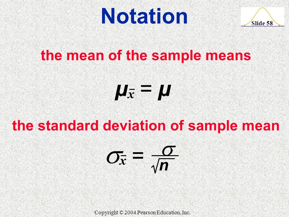 how to find standard deviation of sample mean