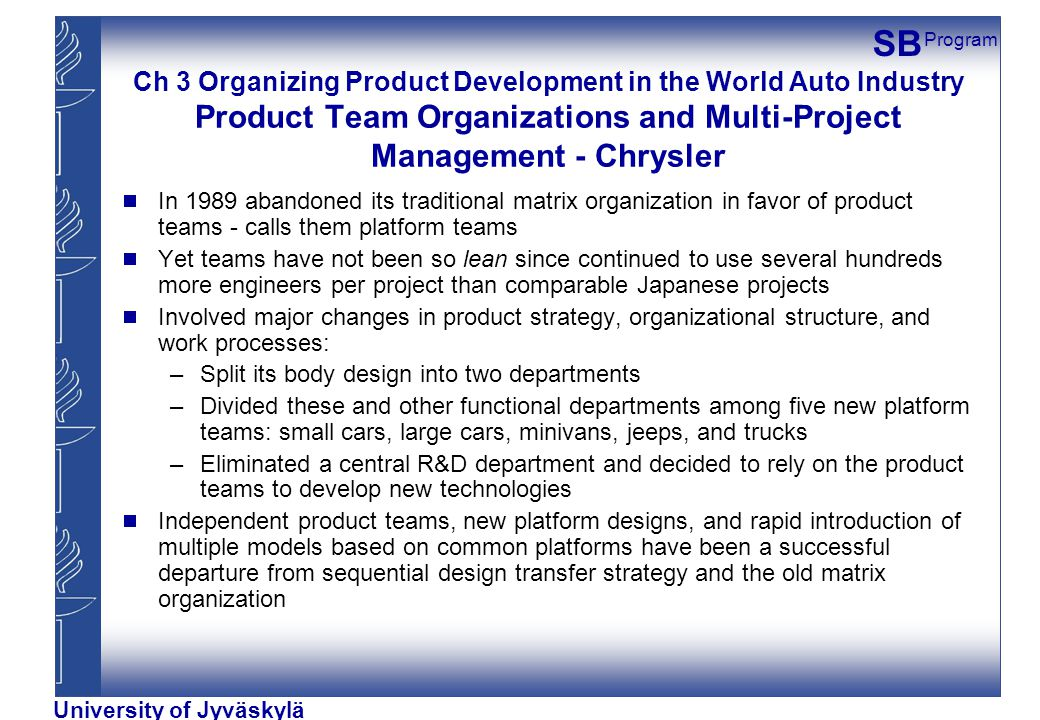 chryslers organizational structure Home essays the culture of chrysler  organizational structure pages: 2  chryslers declining sales was struggling to continue its operations.