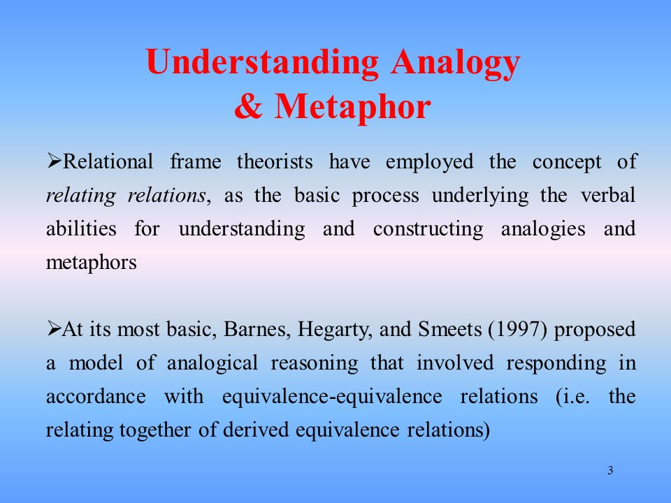 Understanding Analogy