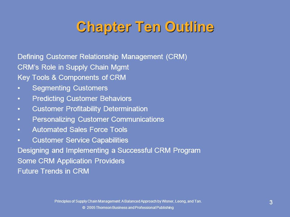 client relationship management course outline