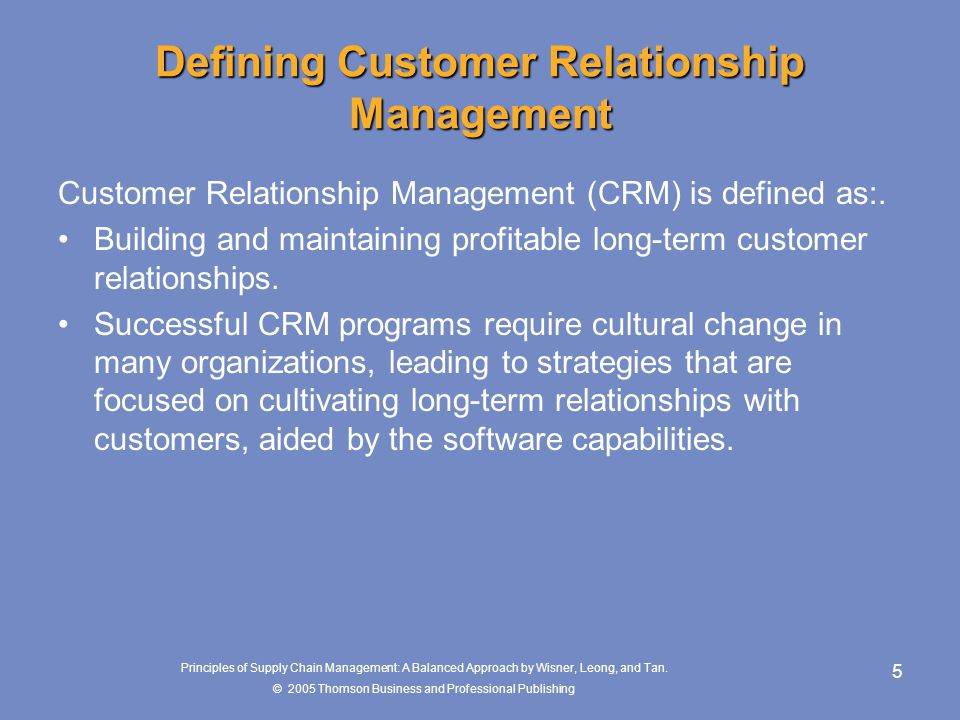 Defining Customer Relationship Management