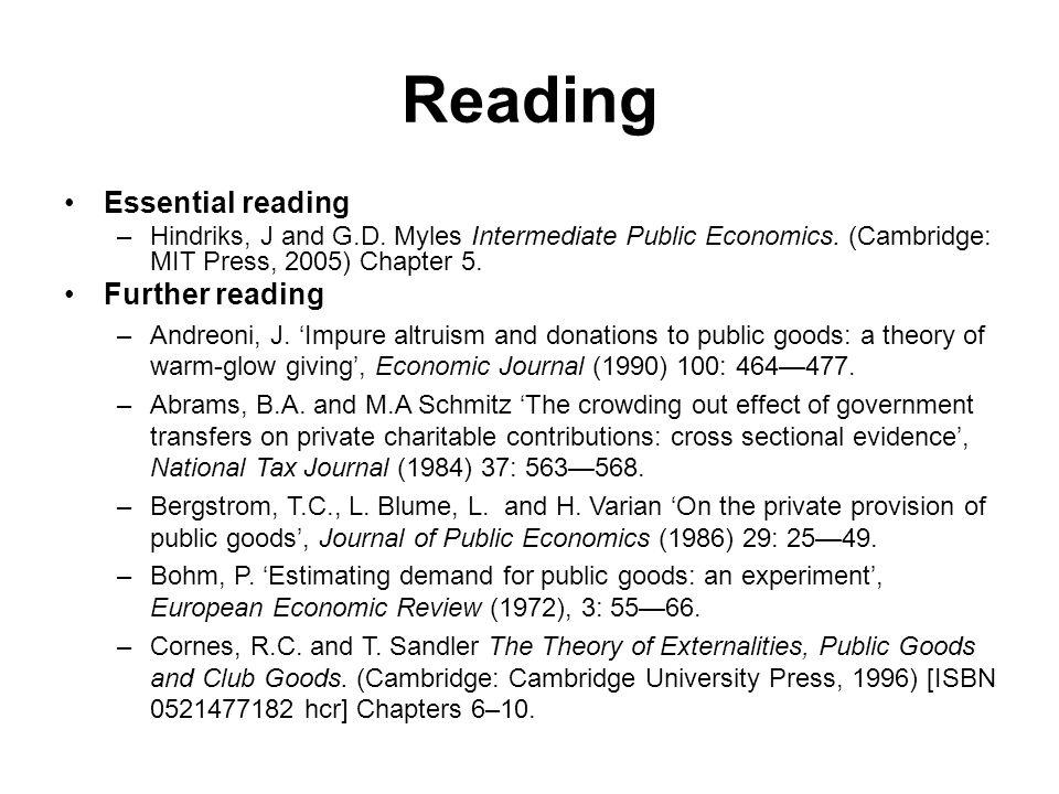 public goods and private goods in economics pdf