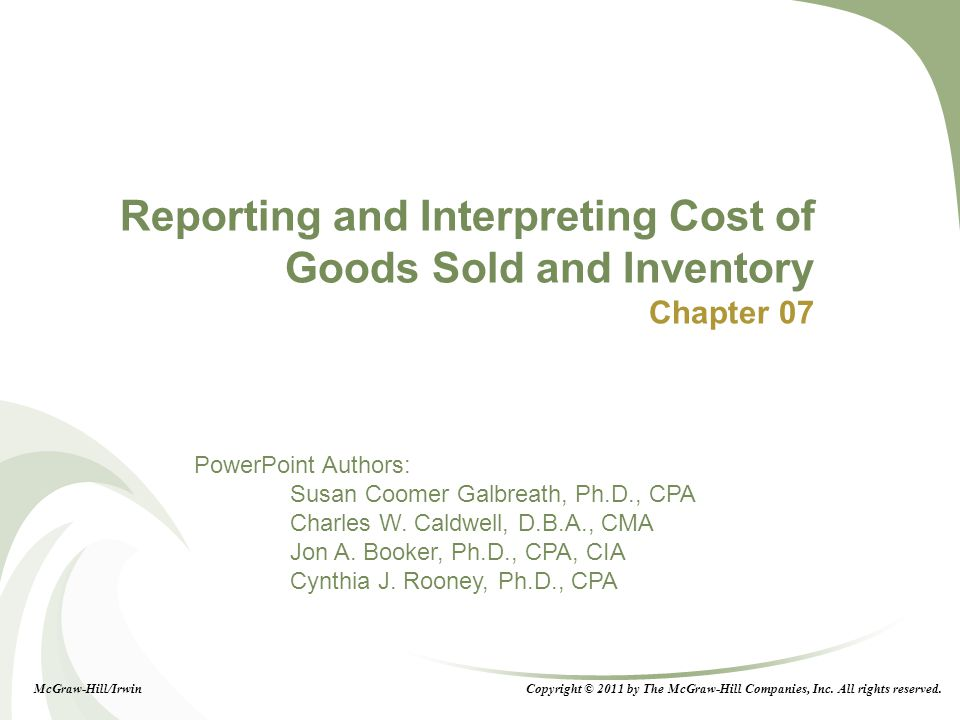cost of goods sold pdf