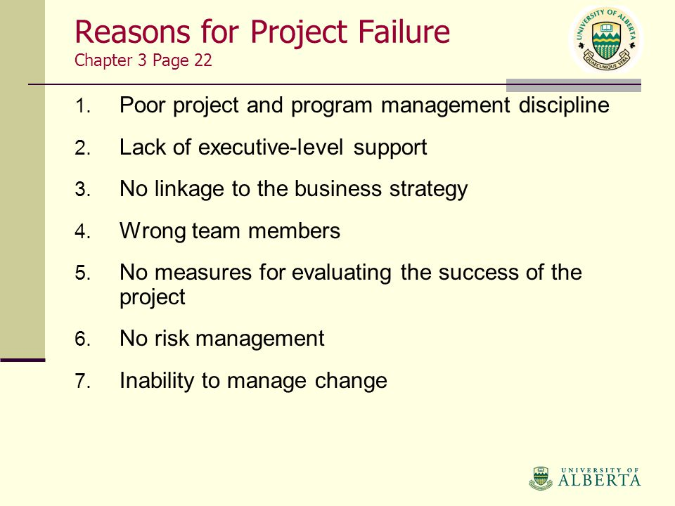 The reasons for successful and unsuccessful change programs