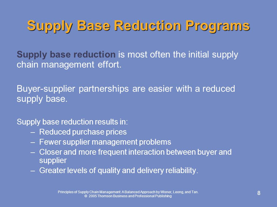 Cost Reduction Strategies in Supply Chain Management
