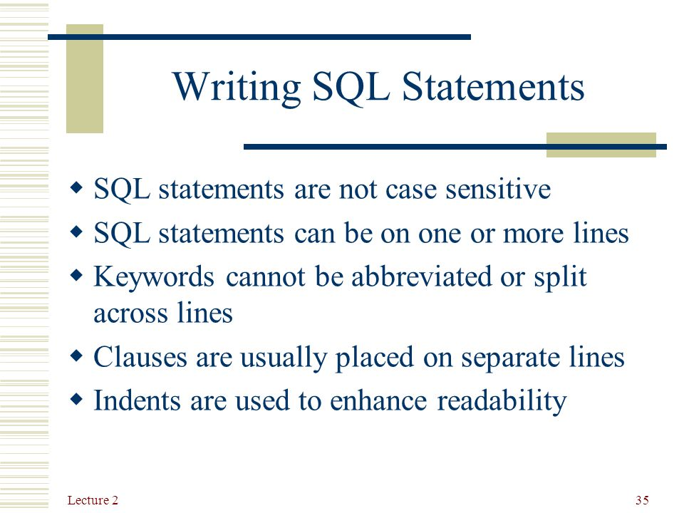 writing sql statement Writing and executing sql statements selecting the default schema or database you can select the default schema or database by using the list in the right-hand part.