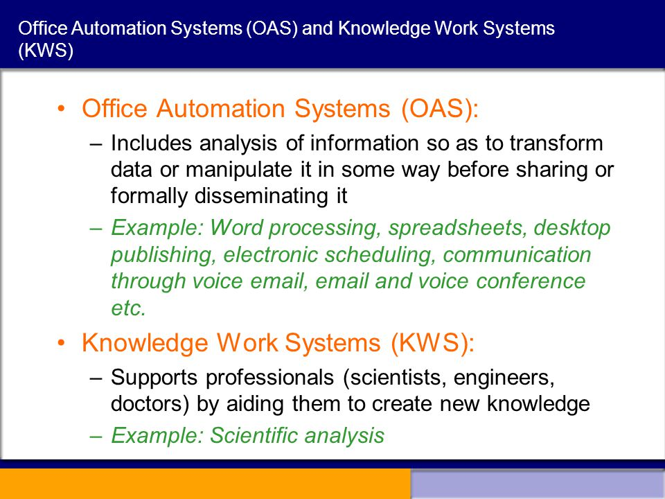 office automated system. 6 Office Automation Automated System