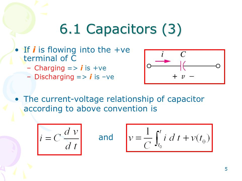 current and voltage relationship in capacitor