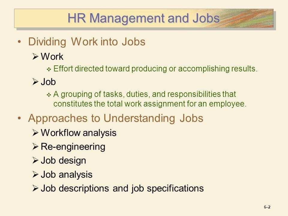 job description matrix