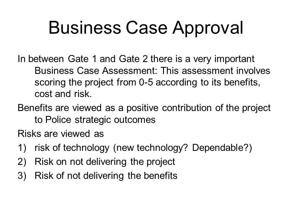 Business Case Approval