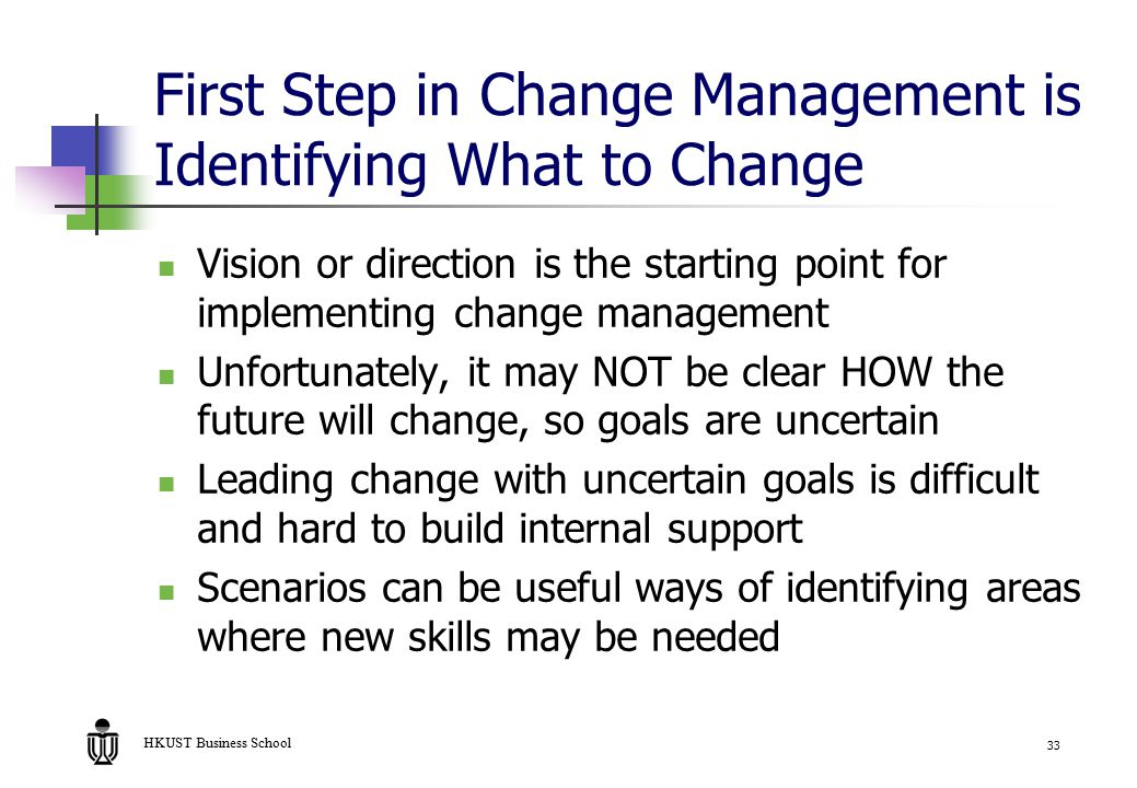 identifying the need for a strategic change in an organisation Successful change management involves the employees successful change management involves the organizational leaders must identify the need for change and.