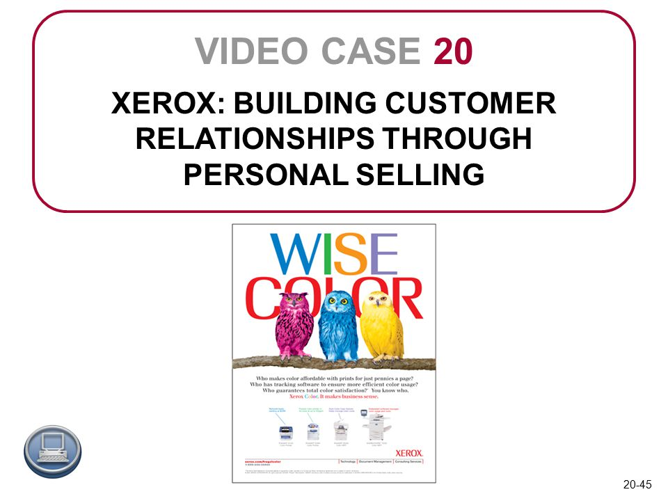 xerox personal selling Discussion about the xerox sales training program known as professional selling skills (pss.