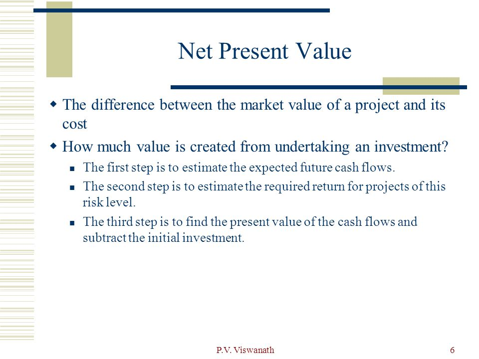 the difference between the present value Understanding the difference between the net present value (npv) versus the  internal rate of return (irr) is critical for anyone making.