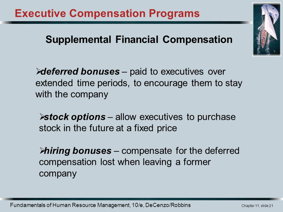 discuss two types of bonuses common in executive compensation 1 (tco 10) discuss the three main types of bonuses common in executive compensation please discuss in detail and provide examples of each type of bonus 2 (tco 8) list and discuss four possible limitations of merit pay programs please discuss in detail and provide examples for each of the limitations.